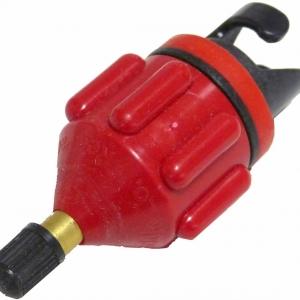 Red schrader valve/Opblaasadapter