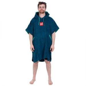 Red Paddle Luxury Toweling Poncho Blauw